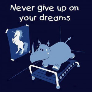 Never give up on your dreams life quotes