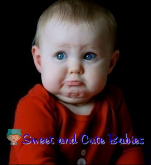 cute sad baby
