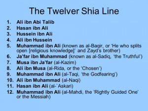 Ali ibn Abi Talib 2.Hasan ibn Ali 3.Hussein ibn Ali 4.Ali ibn Hussein ...