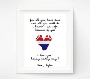 ... Day Gift for New Dad Baby Footprint by PitterPatterPrint, $30.00