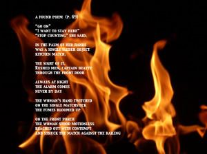 Flames- A Found Poem