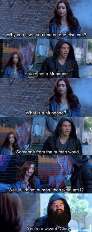 Mortal Instruments City of Bones Meme On Being Mundane