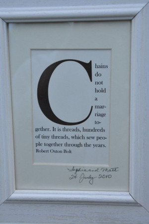 Custom framed quote.