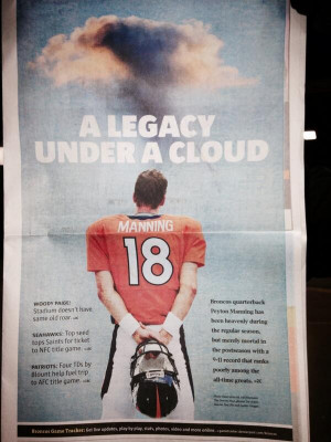 The Denver Post Front Page Puts The Pressure On Peyton Manning
