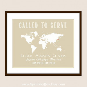 PRINTABLE Customizable Missionary World Map The by PrincessSnap, $7.50