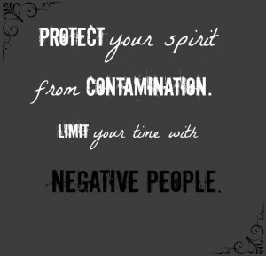 Negative people toxic people