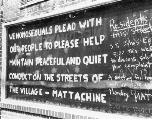 The weekend of the riot, the Mattachine Society tried to restore peace ...