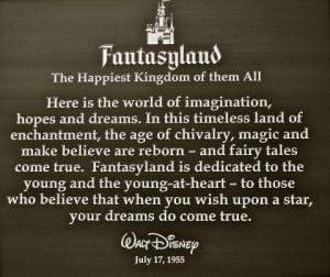 disney, disneyland, fantasyland, quote, walt disney