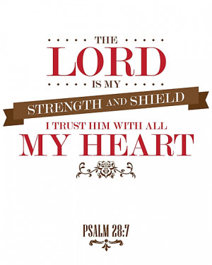 ImageNugget › Portfolio › The Lord Is My Strength Christian Quote