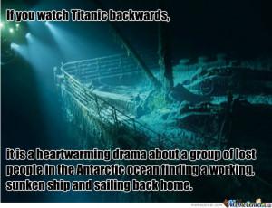 Titanic Backwards Meme Credited