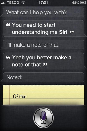 ... Pictures of funny siri responses on siriously weird and saw this