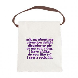 Funny My ADD Quote Canvas Lunch Bag. A GREAT ADHD & ADD GIFT IDEA ...
