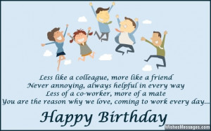 Funny Co Worker Birthday Quotes. QuotesGram