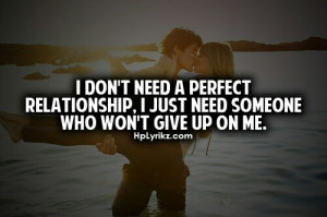 No perfect relationship