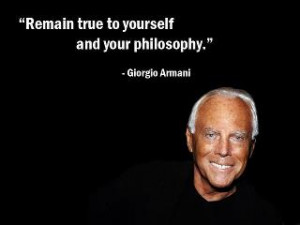 Giorgio Armani Quotes and Phrases