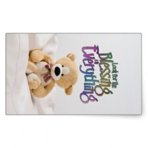Look For The Blessing Teddy Bear MotivationalQuote Stickers