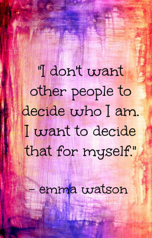 Decide Who I Am