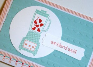 using Blender from Crazy, Mixed-up Love Stamp Set( Wood , Cling )