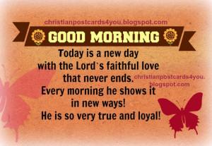 Christian Good Morning Quotes Free christian good morning