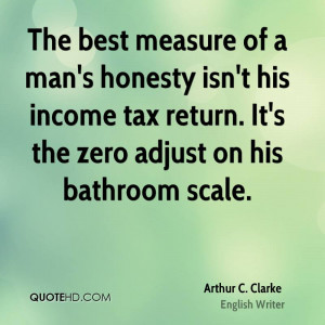 The Best Measure Man Honesty Isn His Income Tax Return