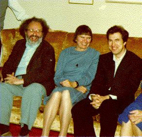 From left to right: Martin Davis, Julia Robinson, Yuri Matiyasevich ...