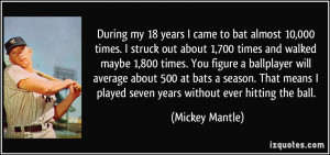More Mickey Mantle Quotes