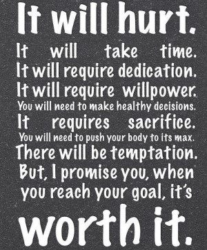 Healthy decision. Dedication. Willpower. Fitness CrossFit. Quote.