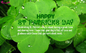 ... St Patricks Day Wishes Irish Saying and Quote Image with Patty Day