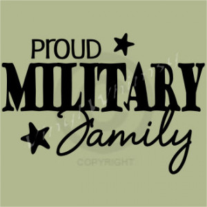 Proud Army Family Vinyl Wall Art Inspirational Quotes And