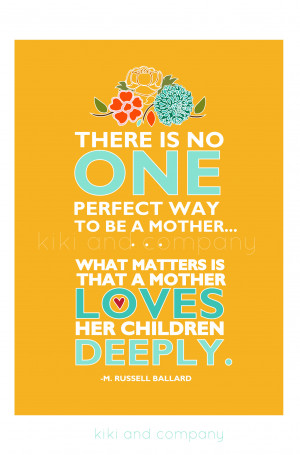 Here is her her print, There is No Perfect Way To Be a Mother that she ...