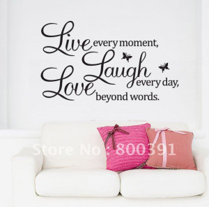 ... Quote Decals,60*80cm Decorative home decor,making house more beautiful