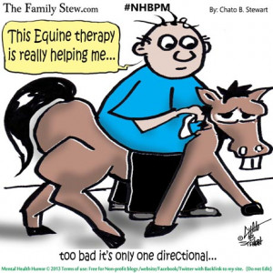 ... Stew_Mental Health Humor_Equine therapy by Chato Stewart cartoon
