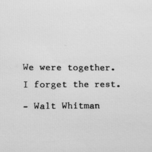 Walt Whitman Quote on Love