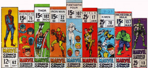 Marvel Comics Group cover boxes, circa 1967-1971 (x-post /r ...