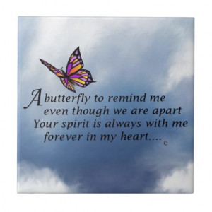 Butterfly Memorial Poem Tile