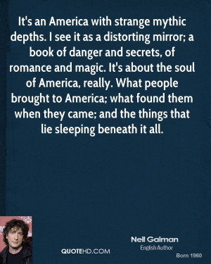 with strange mythic depths. I see it as a distorting mirror; a book ...