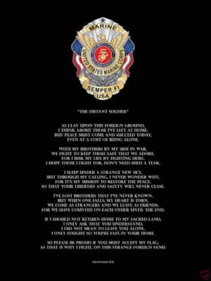 Military Soldier Marine USMC Semper Fi Poem Poster Print Novelty ...