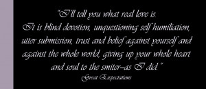 Great Expectations Love Quotes Quote Image