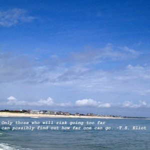 Bald Head Island photo and quote // See 20 cool quotes to inspire.