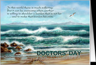 National Doctors' Day, Seascape with Seagull and Beach card ...