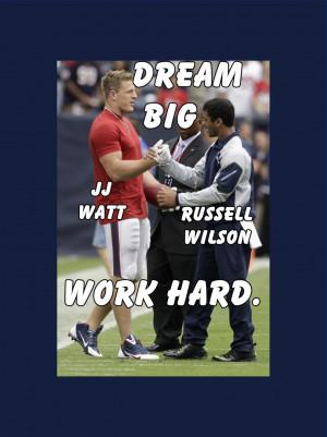 Houston Texans JJ Watt amp Seattle Seahawks Russell Wilson Photo Quote