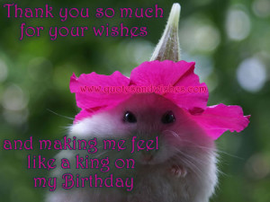 Thank You So Much For Your Wishes And Making Me Feel Like A King On My ...