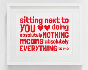, boyfriend gift, love quote, love print, valentines day, valentines ...