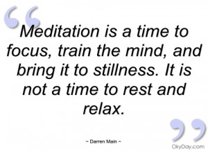 meditation is a time to focus