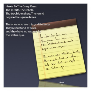 ... Lion's New Notes App Contains Hidden Tribute To Famous Apple Ad