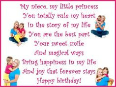 Cute birthday poem for a niece from her aunt. via princesswithapen ...