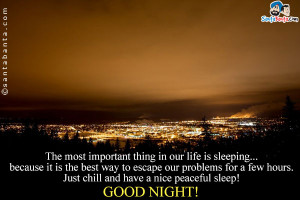 Peaceful Good Night Quotes