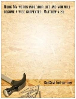 Matthew Scripture Verses | WISE CARPENTER NOTE PAD WITH BIBLE VERSE ...