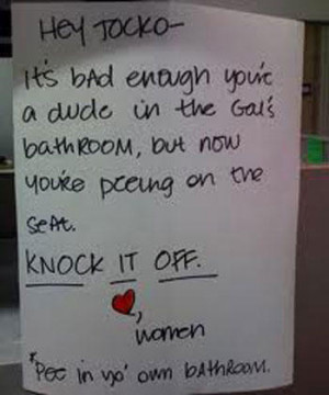 24 Funniest Bathroom Notes