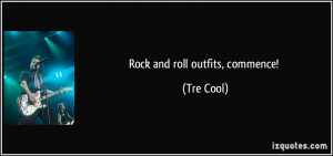 Rock and roll outfits, commence! - Tre Cool